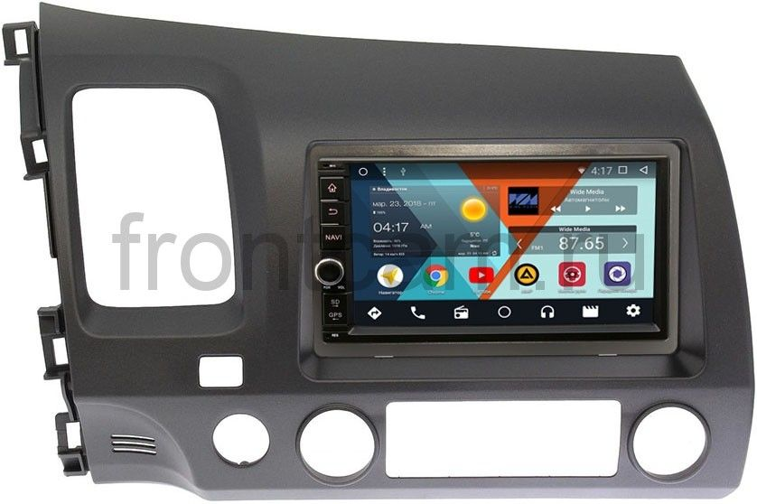 Штатная магнитола Wide Media WM-VS7A706-OC-2/32-RP-HNCV52-60 для Honda Civic 7 (VII) 2003-2005, Civic 8 (VIII) 2006-2012 Android 8.0