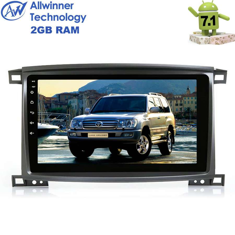 Штатная магнитола Toyota Land Cruiser 100 2002-2007 LeTrun 2054 на Android 7.1.1 otojeta vertical 10 4 inch android 6 0 car dvd player for 2017 vw magotan gps navi headunit auto radio stereo