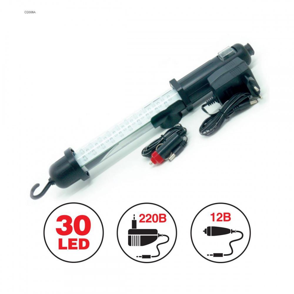Светильник переносной AVS CD306A 30LED(12/220В, вн. акб)