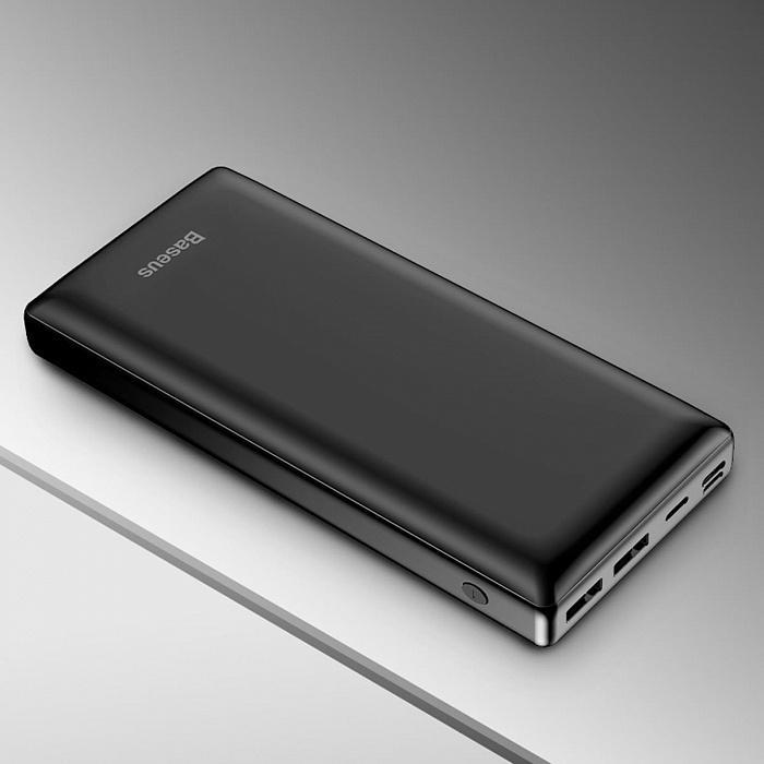Портативное зарядное устройство Baseus Mini JA Fast charge power bank 3A 30000mAh Черный