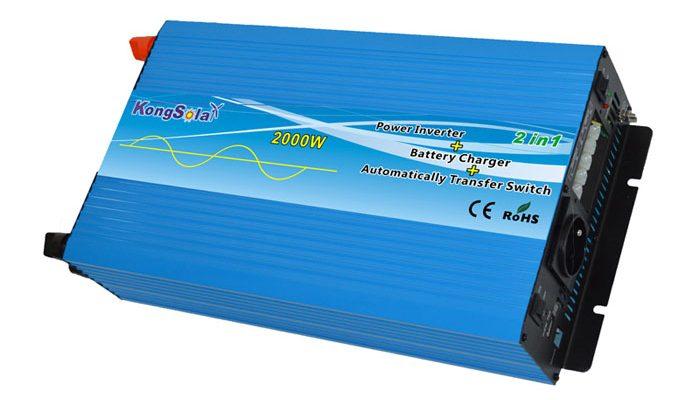 Преобразователь напряжения KongSolar KPC24/2000 с функцией зарядки (ИБП, реальный синус) (+ Автомобильные коврики в подарок!)