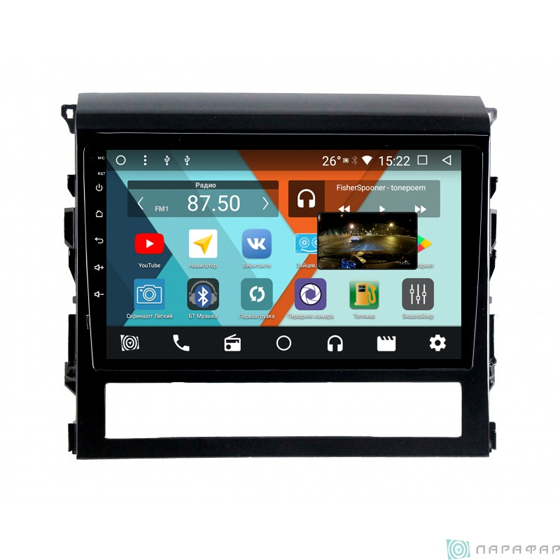 Штатная магнитола Parafar с IPS матрицей для Toyota Land Cruiser 200 на Android 8.1.0 (PF567K) штатная магнитола daystar ds 7083hd toyota land cruiser 100 android 6 4 ядра