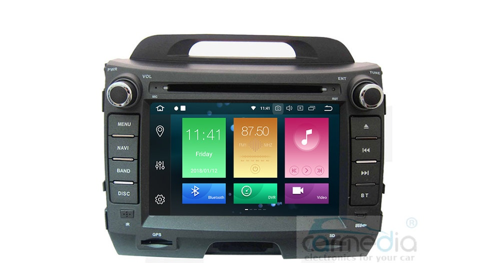 Штатная магнитола CARMEDIA MKD-K890-P30-8 Kia Sportage 2010-2016 Android 9.0 (+ камера заднего вида) штатная магнитола letrun 1867 для kia sportage 2010 2016 android 6 0 1