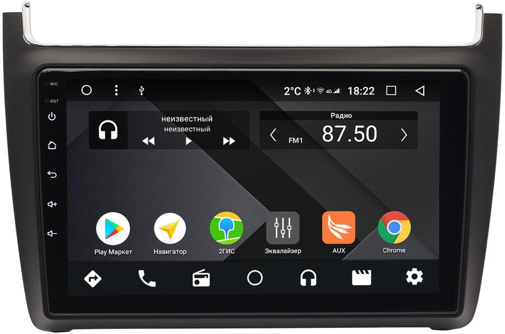 Штатная магнитола Volkswagen Polo 5 2009-2019 Wide Media CF9091-OM-4/64 на Android 9.1 (TS9, DSP, 4G SIM, 4/64GB) (+ Камера заднего вида в подарок!)