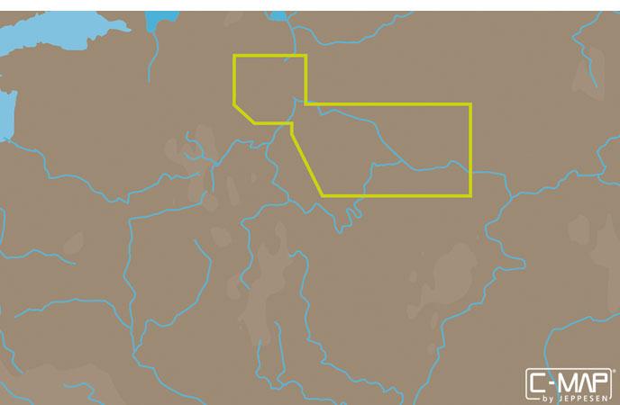 Карта C-MAP RS-N214 - Рыбинск – Чебоксары