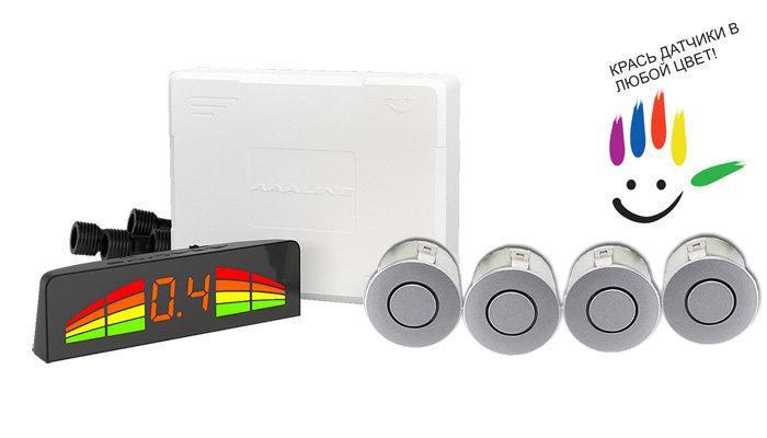 Парктроник модель AAALine LED-14 Silver цена