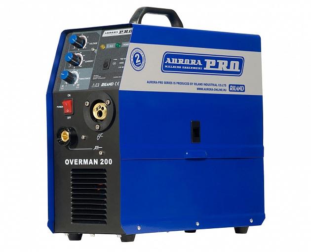 цена на Инверторный сварочный полуавтомат AuroraPRO OVERMAN 200 (MOSFET) (+ Маска с поднимающимся светофильтром в подарок!)