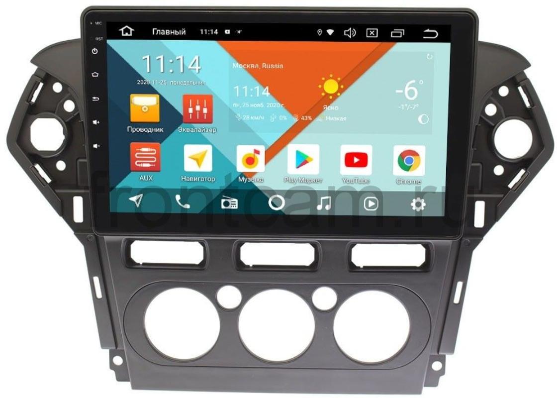 Штатная магнитола Ford Mondeo IV 2010-2015 Wide Media KS1019QM-2/32 DSP CarPlay 4G-SIM для авто с кондиционером на Android 10 (+ Камера заднего вида в подарок!)