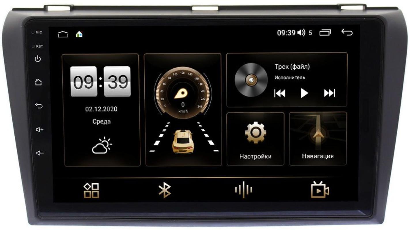 Штатная магнитола Mazda 3 (BK) 2003-2009 LeTrun 3792-9032 на Android 10 (4/64, DSP, QLed) С оптическим выходом (+ Камера заднего вида в подарок!)