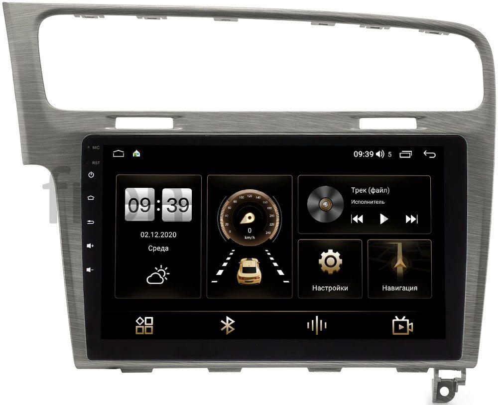 Штатная магнитола Volkswagen Golf 7 2012-2020 (серая) LeTrun 4195-10-048 на Android 10 (6/128, DSP, QLed) С оптическим выходом (+ Камера заднего вида в подарок!)