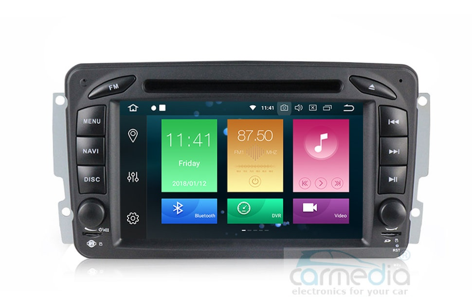 Штатная магнитола CARMEDIA MKD-M789-P30-8 Mercedes G класс W463 2001-2006, C класс W203, CLK C209/W209, Vito, Viano Android 9.0 (+ камера заднего вида)