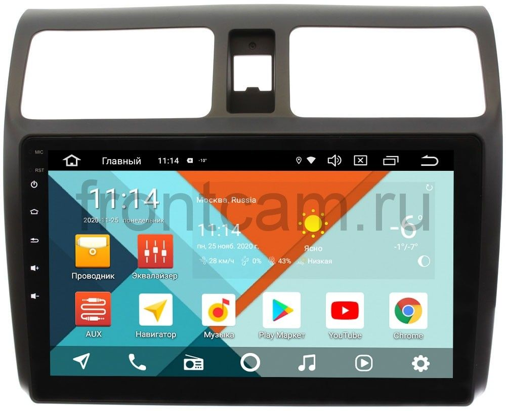 Штатная магнитола Suzuki Swift III Wide Media KS1024QR-3/32 DSP CarPlay 4G-SIM на Android 10 (+ Камера заднего вида в подарок!)