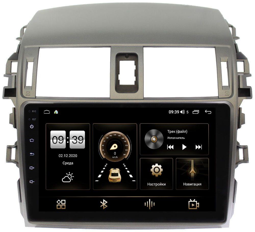 Штатная магнитола LeTrun 3792-9061 для Toyota Corolla X 2006-2013 на Android 10 (4/64, DSP, QLed) С оптическим выходом (+ Камера заднего вида в подарок!)