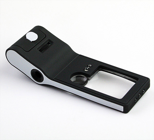 Лупа Kromatech карманная 3/10/55x, с микроскопом и подсветкой (6 LED), черная цена и фото