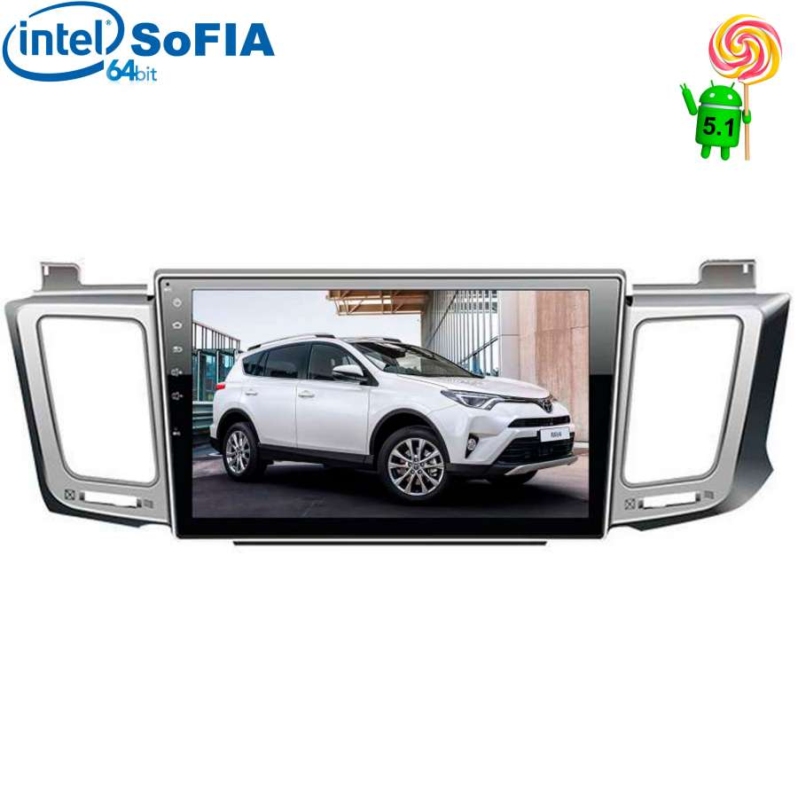 Штатная магнитола для Toyota RAV4 (CA40) 2013-2017 LeTrun 2086 Android 6.0.1 Intel SoFIA lsqstar 8 android4 0 capacitive screen car dvd player w gps fm bt wifi swc tv aux for toyota prius