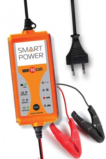 Устройство зарядное АКБ SMART POWER SP-4N (12В, 4А, 9 стадий) (+ Power Bank в подарок!)
