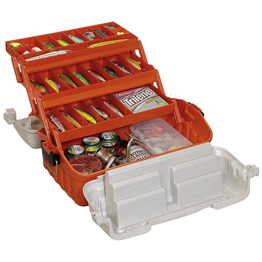 Ящик Plano 7603-00 с 3х уровневой системой хранения приманок и быстром доступом сверху цена и фото