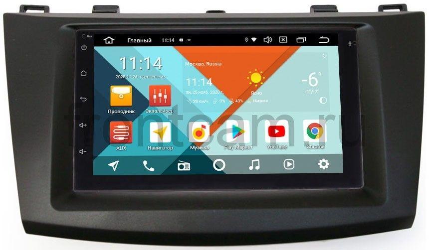 Магнитола в штатное место 2 din Mazda 3 (BL) 2009-2013 Wide Media MT7001PK-2/16-RP-MZ3E-117 на Android 9.1 (DSP 3G-SIM) (+ Камера заднего вида в подарок!)