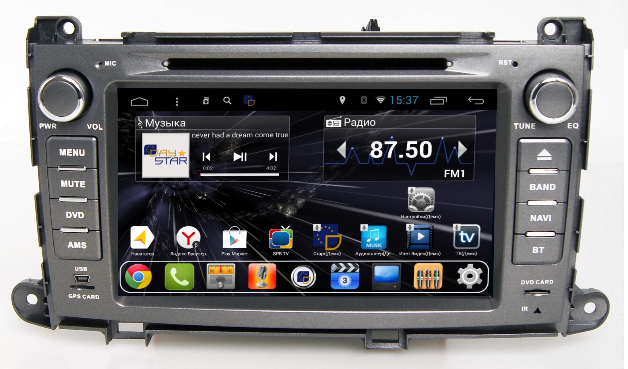 Штатная магнитола DayStar DS-8005HD Toyota Sienna штатное головное устройство daystar ds 7047hb toyota prado 150 2013 android 6 4 ядра