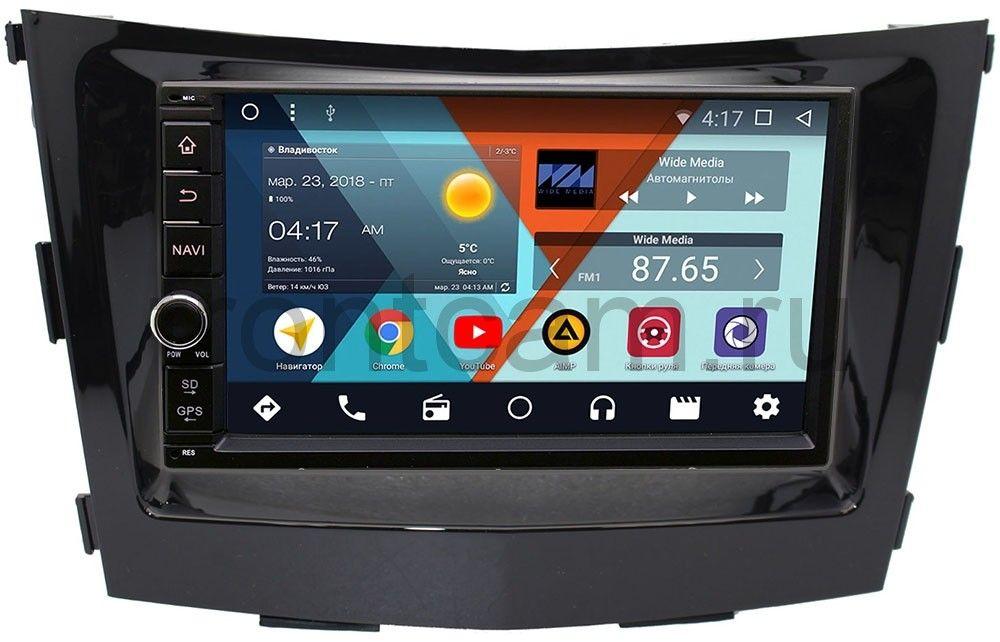 Штатная магнитола Wide Media WM-VS7A706-OC-2/32-RP-SYTV-16 для SsangYong Tivoli, XLV 2015-2018 Android 8.0 (+ Камера заднего вида в подарок!)