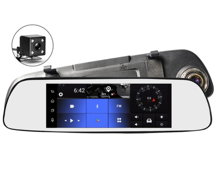 Фото - Зеркало с регистратором и GPS навигатором TrendVision aMirror Slim Pro (+ Карта памяти microSD на 32 ГБ в подарок!) видео
