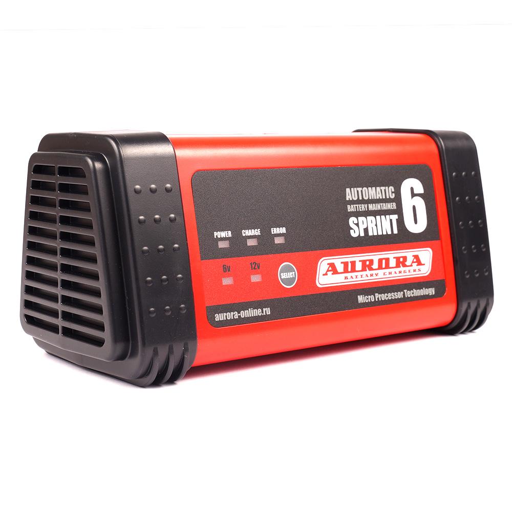 Фото - Интеллектуальное зарядное сетевое устройство AURORA SPRINT 6 (6/12В) (+ Антисептик-спрей для рук в подарок!) aurora sprint 20d automatic
