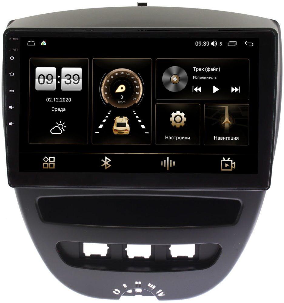 Штатная магнитола Peugeot 107 I 2005-2014 LeTrun 4195-10-1152 на Android 10 (6/128, DSP, QLed) С оптическим выходом (+ Камера заднего вида в подарок!)