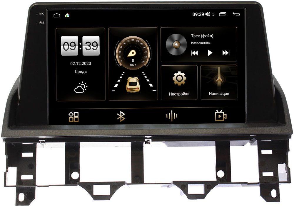 Штатная магнитола Mazda 6 (GG) 2002-2007 LeTrun 4196-9219 на Android 10 (6/128, DSP, QLed) С оптическим выходом (+ Камера заднего вида в подарок!)
