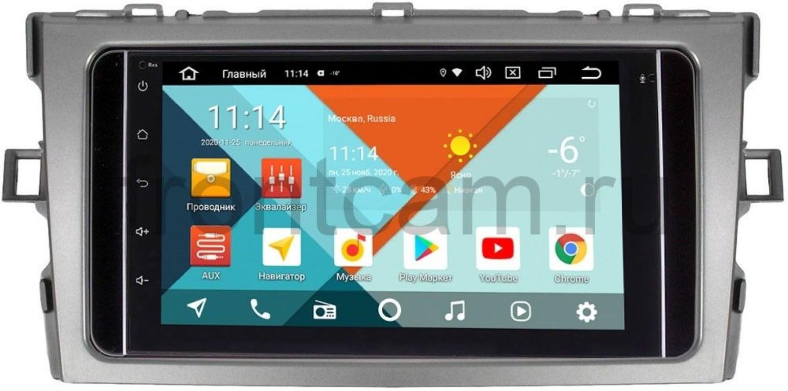 Штатная магнитола Wide Media KS7001QR-3/32-RP-TYVO-190 для Toyota Verso 2009-2016 Android 10(DSP CarPlay 4G-SIM) (+ Камера заднего вида в подарок!)
