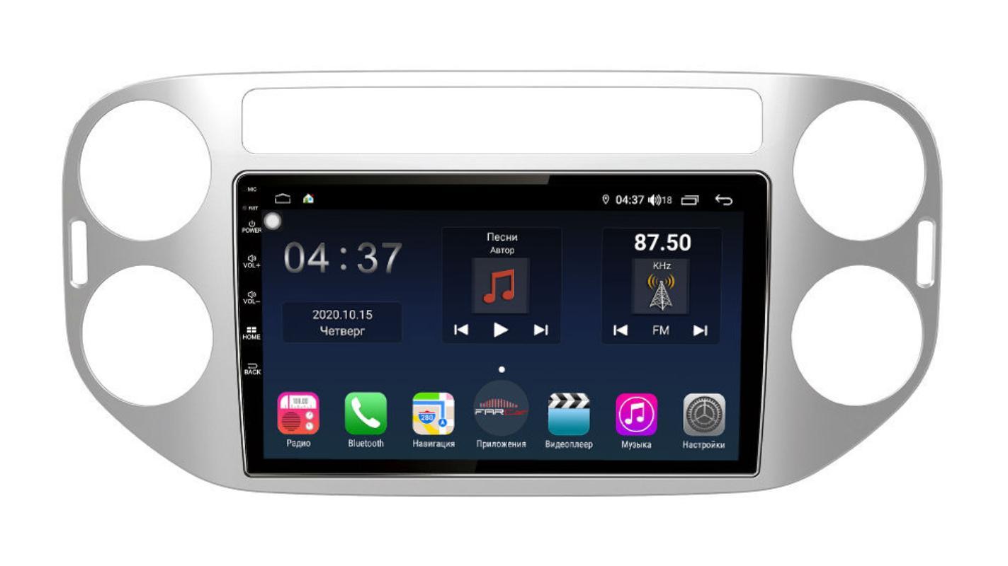 Штатная магнитола FarCar s400 для VW Tiguan на Android (TG489R) (+ Камера заднего вида в подарок!)