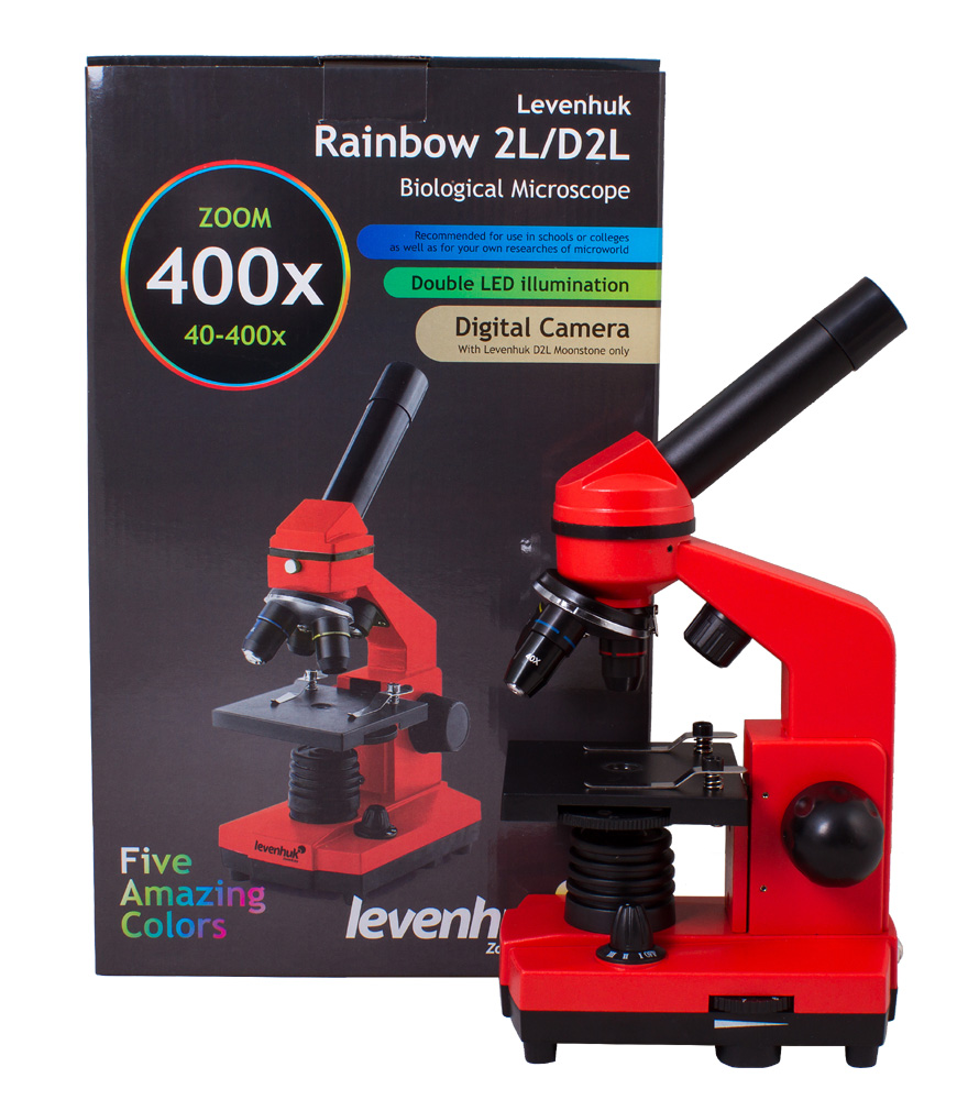 лучшая цена Микроскоп Levenhuk Rainbow 2L Orange\Апельсин