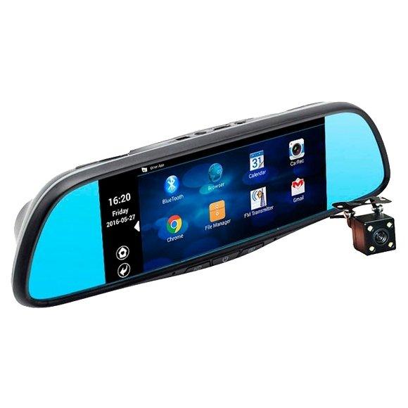 Автомобильный видеорегистратор-зеркало с 2-мя камерами Recxon RX-7 #1