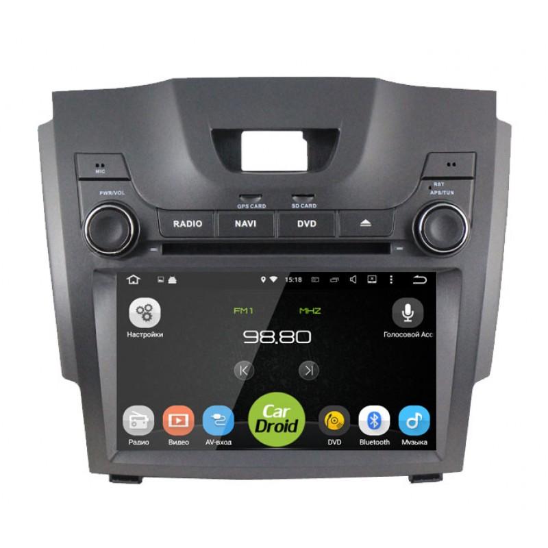 Штатная магнитола CarDroid RD-1306D для Chevrolet Trailblazer / S10 Isuzu D-Max 2 (Android 9.0) DSP (+ Камера заднего вида в подарок!)