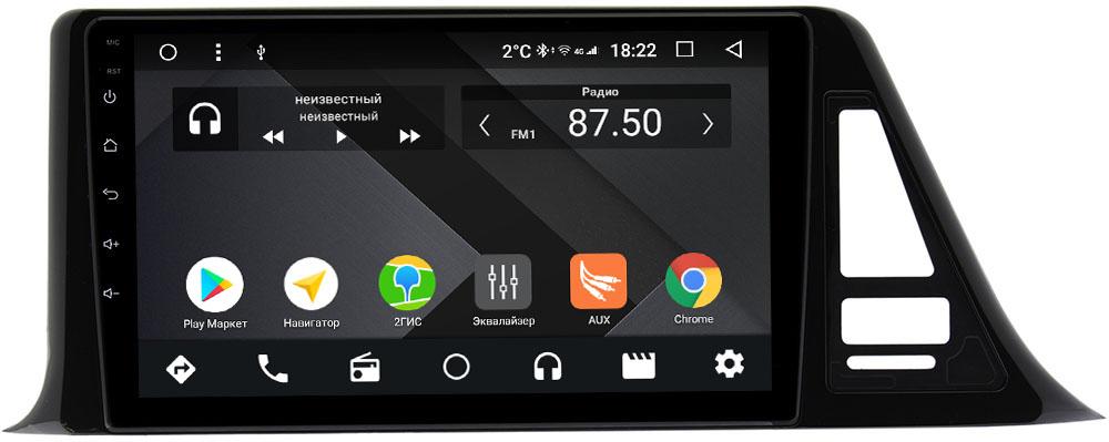 Штатная магнитола Toyota C-HR I 2016-2020 Wide Media CF9124-OM-4/64 на Android 9.1 (TS9, DSP, 4G SIM, 4/64GB) (+ Камера заднего вида в подарок!)