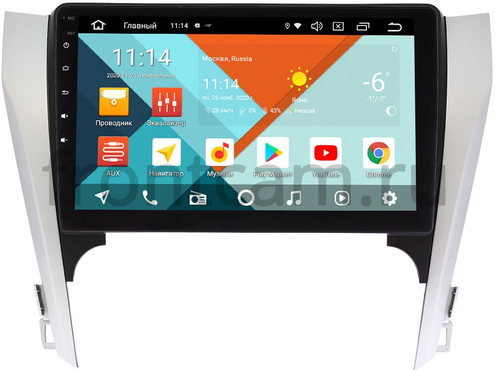 Штатная магнитола Wide Media KS10-169-1QR-3/32 DSP CarPlay 4G-SIM для Toyota Camry V50 2011-2014 на Android 10 (API 29) (для авто с камерой, JBL) (+ Камера заднего вида в подарок!)