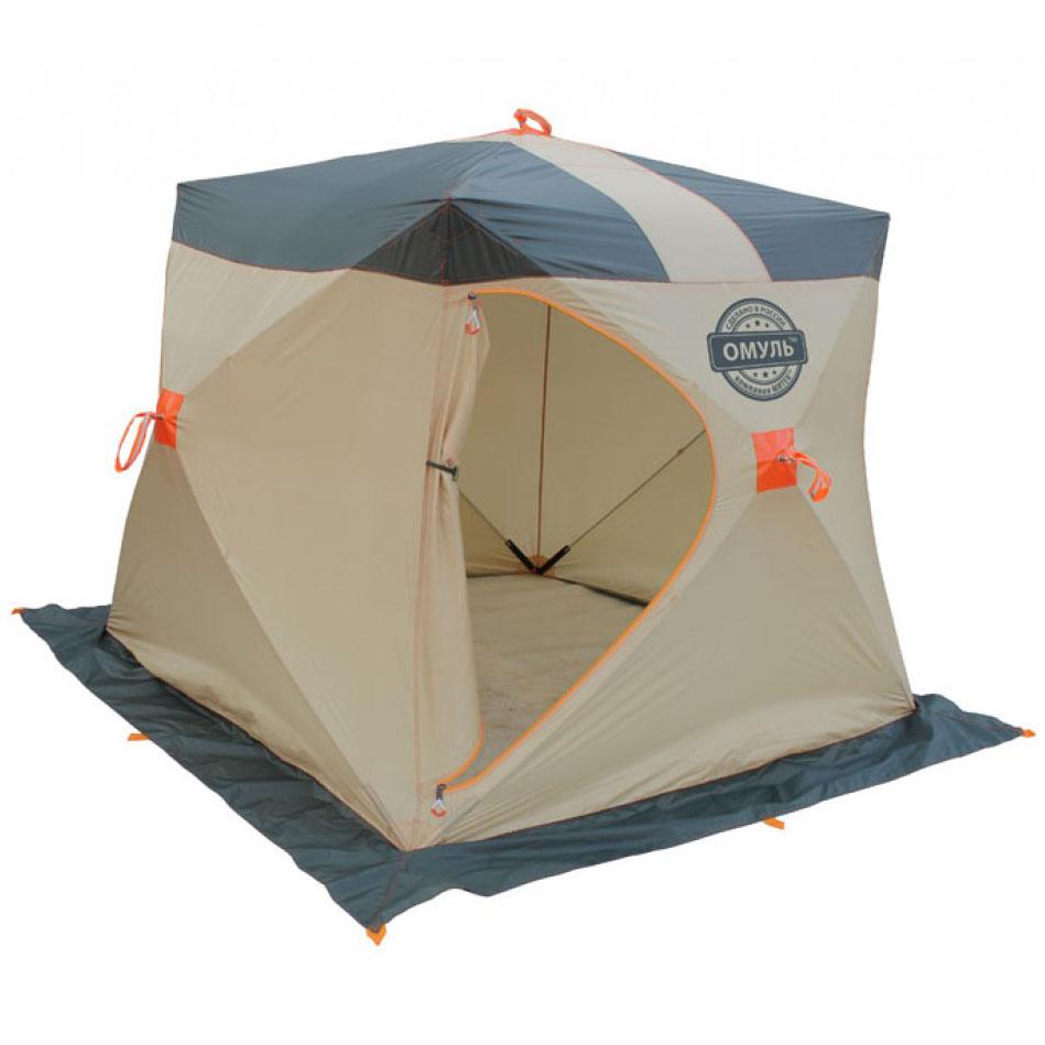 Палатка рыбака Митек Омуль-Куб 1 (хаки/бежевый) (+ Дарим комплект ввертышей для палаки.)