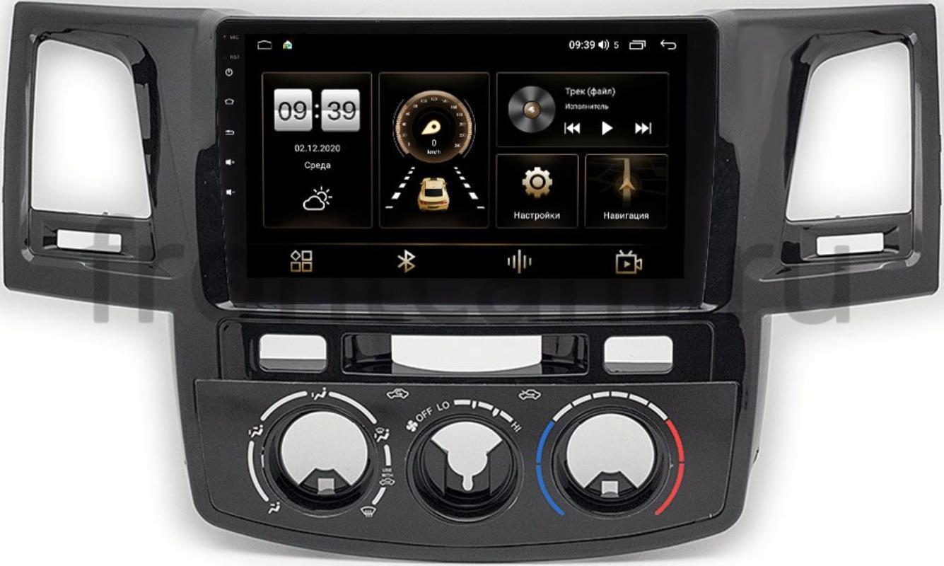 Штатная магнитола Toyota Hilux VII, Fortuner I 2005-2013 (с кондиционером) LeTrun 4166-9414 на Android 10 (4G-SIM, 3/32, DSP, QLed) (+ Камера заднего вида в подарок!)
