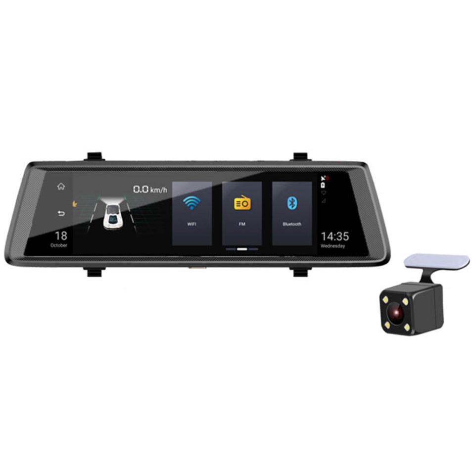 Зеркало-видеорегистратор Recxon Panorama V4 (4G LTE) (+ Разветвитель в подарок!)