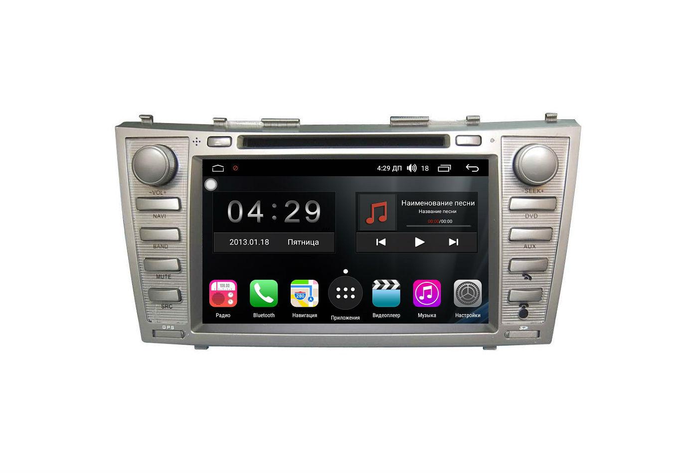 Штатная магнитола FarCar s200+ для Toyota Camry на Android (A064) (+ Камера заднего вида в подарок!)