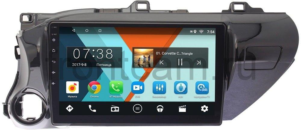 Штатная магнитола Toyota Hilux VIII 2015-2018 Wide Media MT1056MF-1/16 на Android 7.1.1 (для любой комплектации) (+ Камера заднего вида в подарок!)