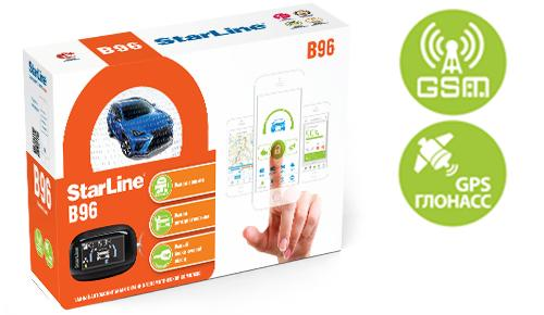 Автосигнализация StarLine B96 2CAN+2LIN GSM-GPS автосигнализация starline d94 gsm gps