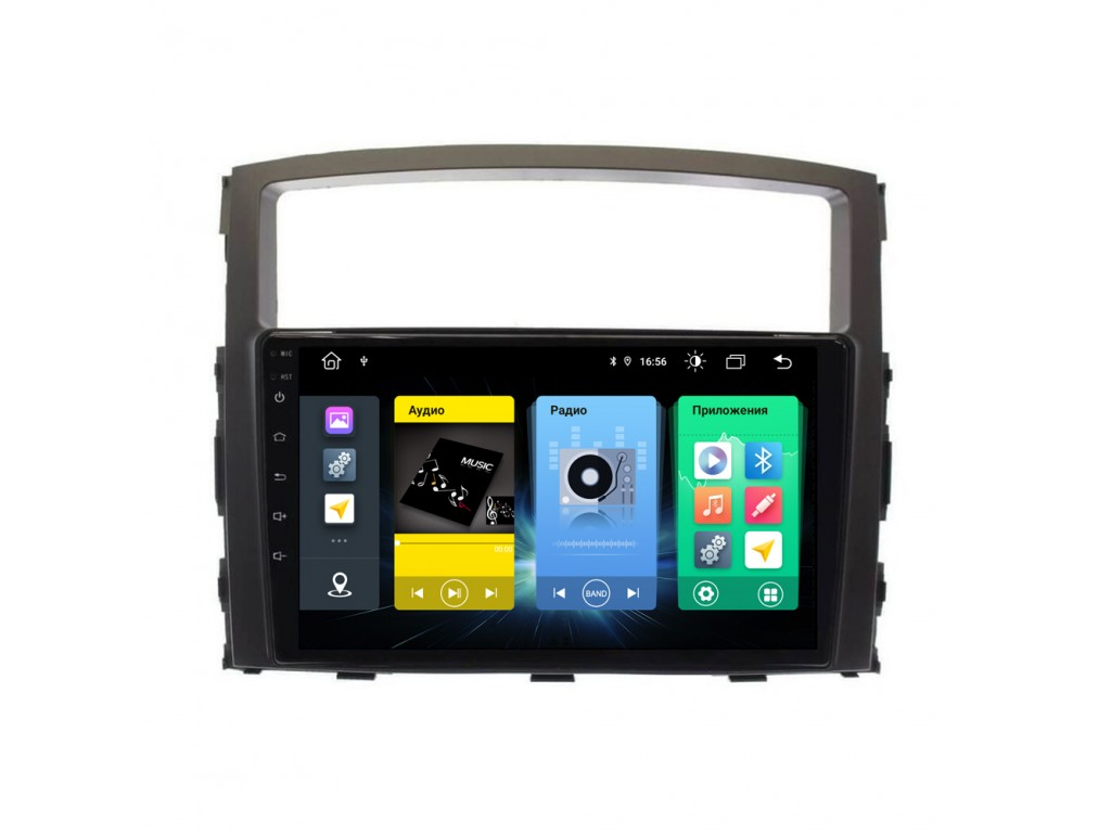 Головное устройство vomi FX333R9-MTK-LTE для Mitsubishi Pajero 4 2006-2020 (+ Камера заднего вида в подарок!)