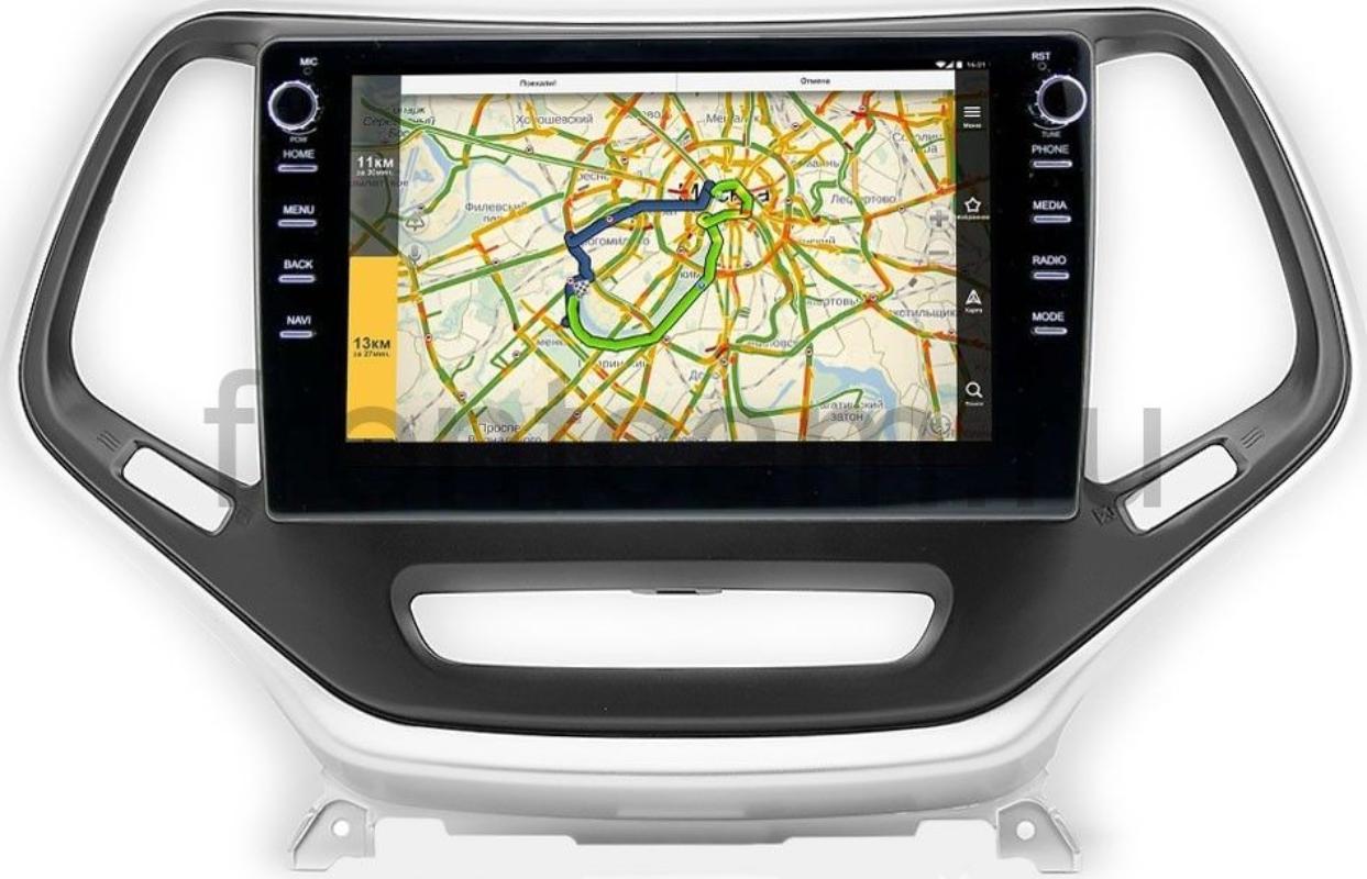 Штатная магнитола LeTrun 3149-10-811 для Jeep Cherokee V (KL) 2013-2021 на Android 10 (DSP 2/16 с крутилками) (+ Камера заднего вида в подарок!)