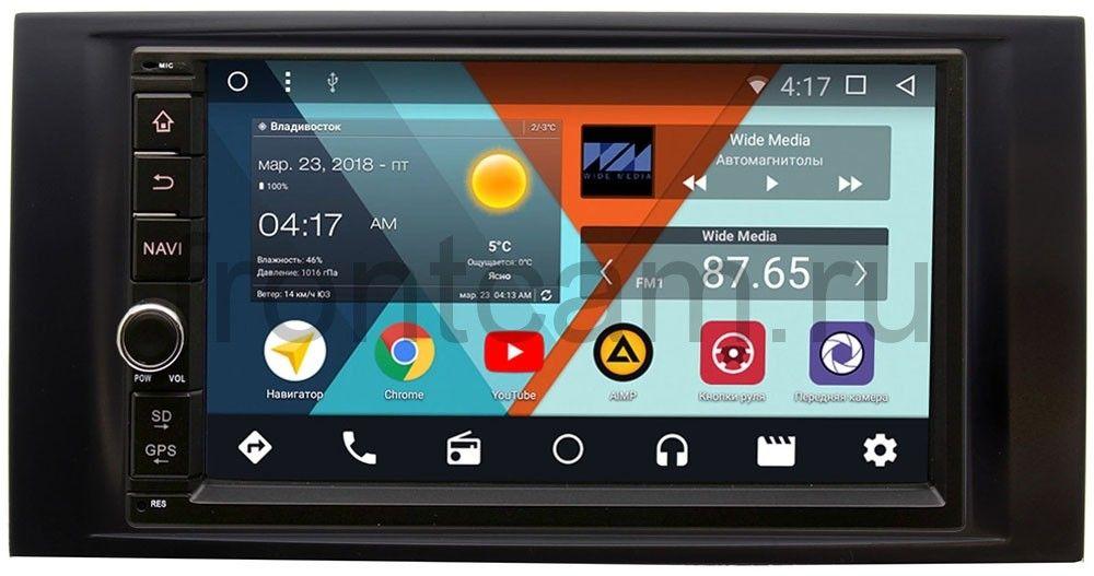 Штатная магнитола Wide Media WM-VS7A706-OC-2/32-RP-VWTGB-135 для Volkswagen Touareg, Multivan T5 2003-2015 Android 8.0 (+ Камера заднего вида в подарок!)