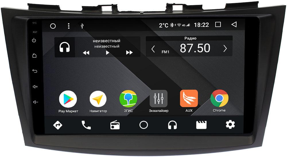 Штатная магнитола Suzuki Swift IV 2011-2017 Wide Media CF9102-OM-4/64 на Android 9.1 (TS9, DSP, 4G SIM, 4/64GB) (+ Камера заднего вида в подарок!)