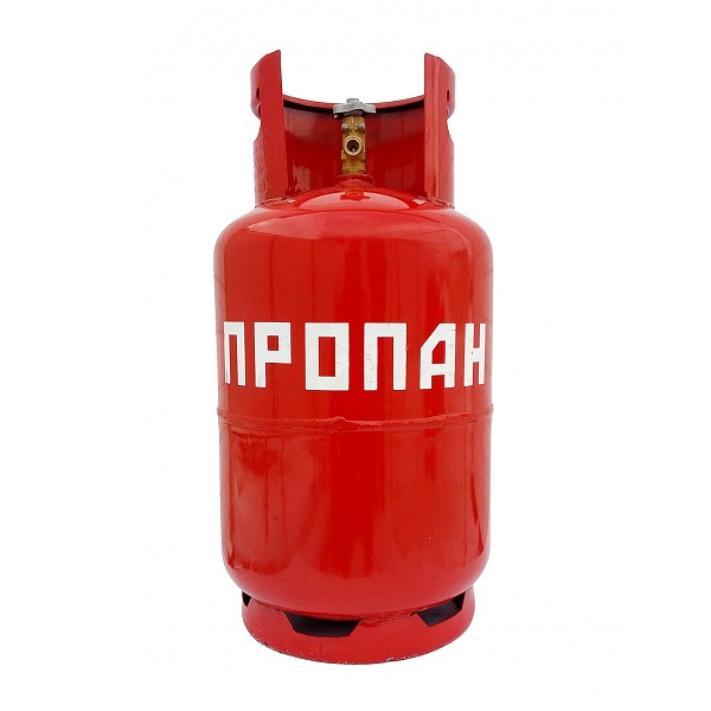 Газовый баллон НЗГА стальной 12л (+ Антисептик-спрей для рук в подарок!)
