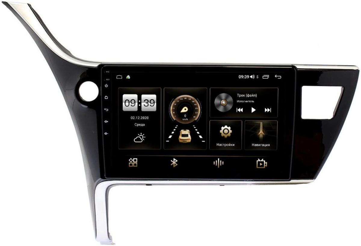 Штатная магнитола LeTrun 4195-10-1135 для Toyota Corolla XI 2015-2020 для авто без камеры на Android 10 (6/128, DSP, QLed) С оптическим выходом (+ Камера заднего вида в подарок!)