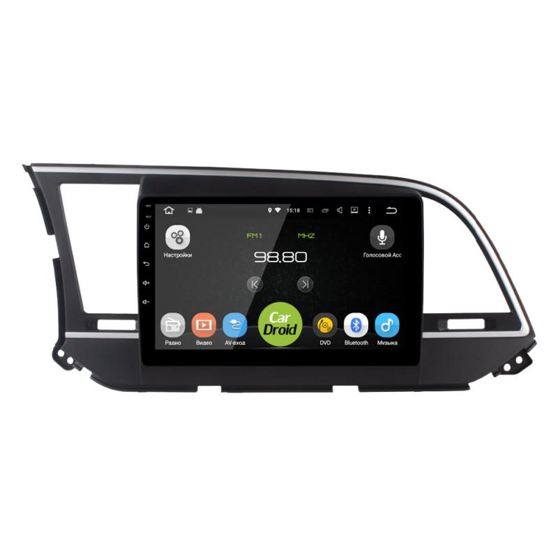 Штатная магнитола Roximo CarDroid RD-2016F для Hyundai Elantra VI (AD) 2016-2018 (Android 8.0) (+ Камера заднего вида в подарок!)