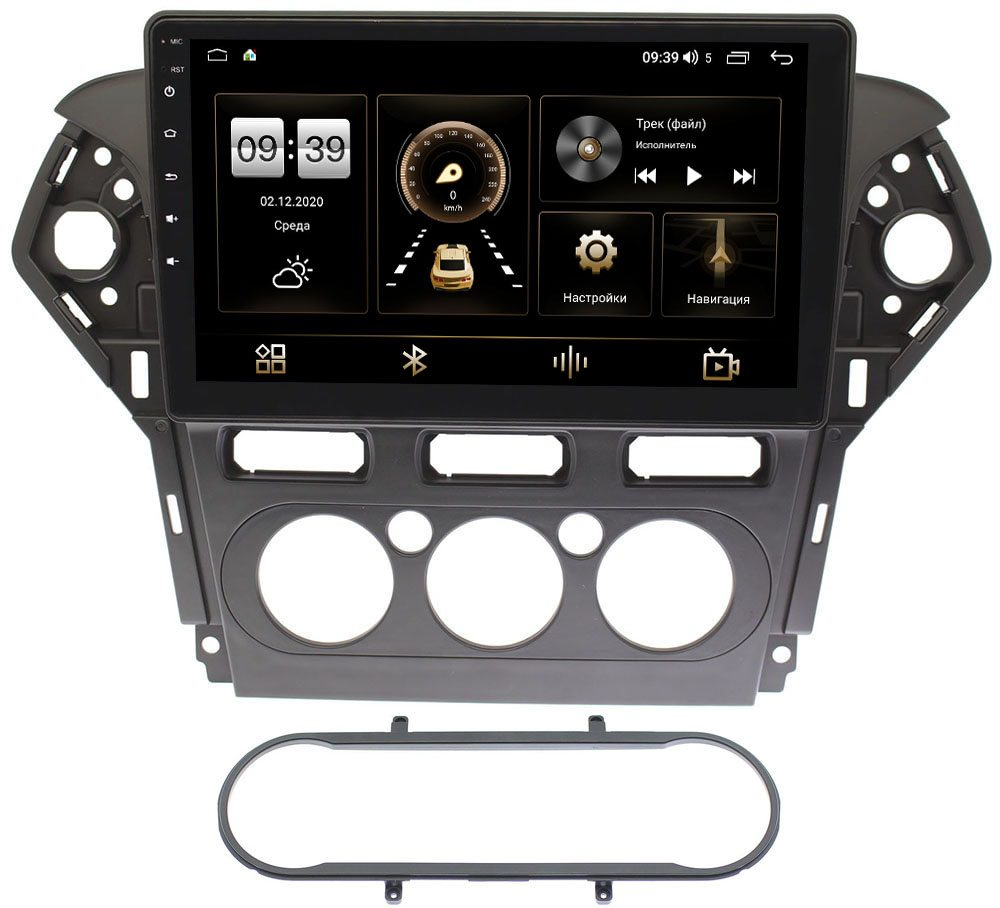 Штатная магнитола Ford Mondeo IV 2007-2015 (черная) LeTrun 3799-1019 на Android 10 (4/64, DSP, QLed) (+ Камера заднего вида в подарок!)