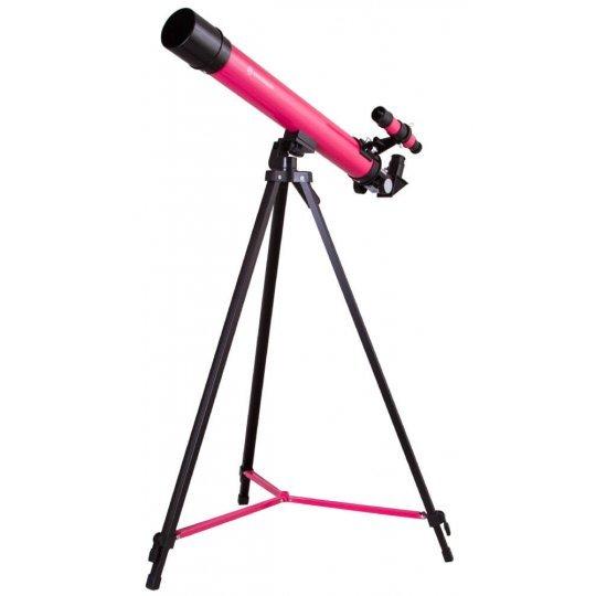 Фото - Телескоп Bresser Junior Space Explorer 45/600 AZ, розовый (+ Книга «Космос. Непустая пустота» в подарок!) телескоп bresser national geographic 50 360 az книга космос непустая пустота в подарок
